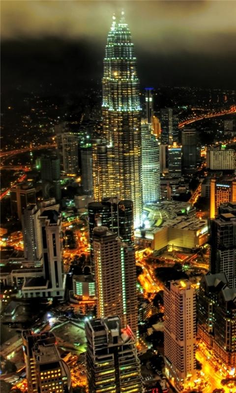 Kuala Lumpur Petronnas Towers Windows Phone Wallpaper