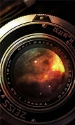 Space In Vintage Camera Lens