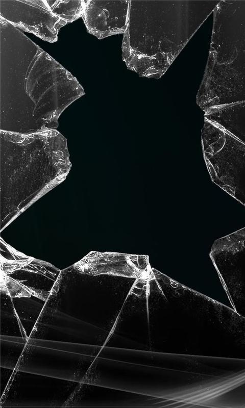 Broken Glass Windows Phone Wallpaper