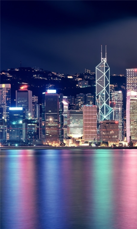 Hong Kong Skyscrapers Windows Phone Wallpaper