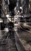 Gray City Night View