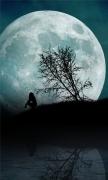 Girl Moon Night Water