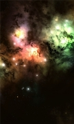 Colorful Cosmic Clouds