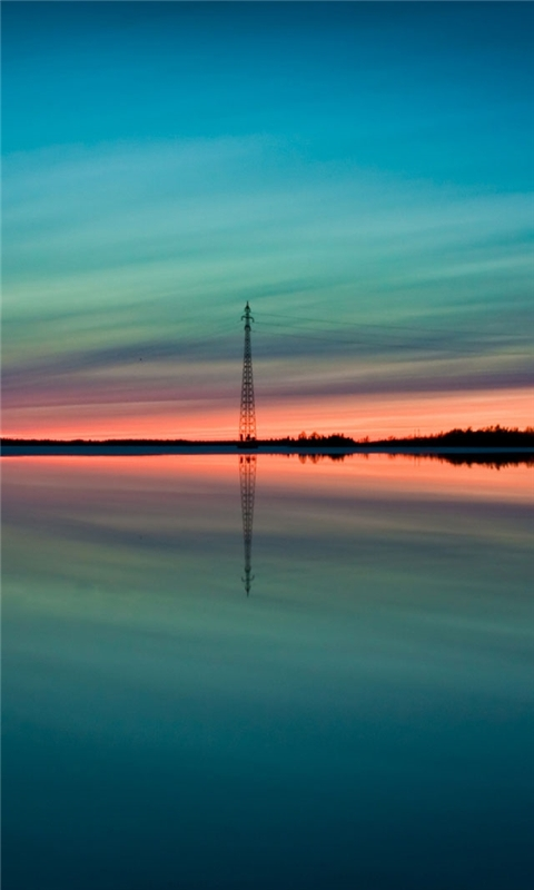 Summer sunset reflection Windows Phone Wallpaper