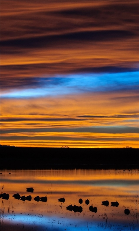 New Mexico Sunset Reflection Windows Phone Wallpaper