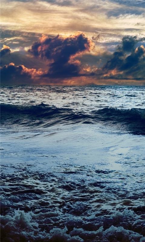 Dark blue sea Windows Phone Wallpaper