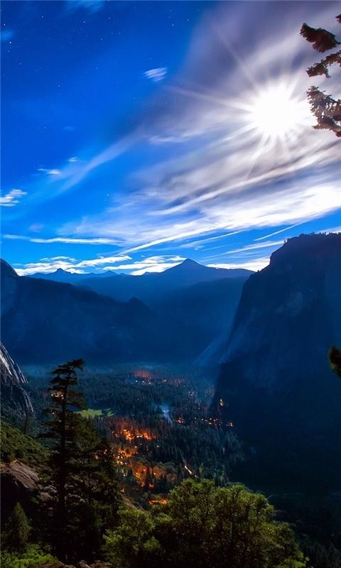 Yosemite National Park View Windows Phone Wallpaper