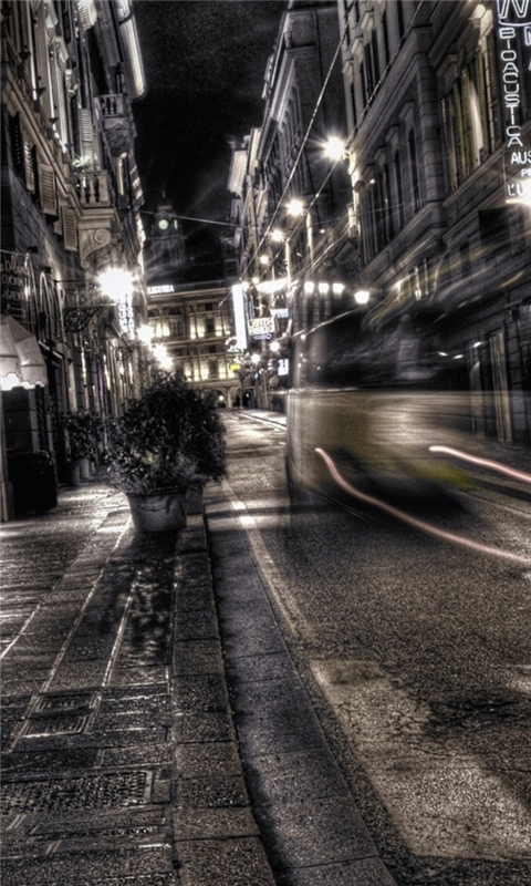 Gray City Night Windows Phone Wallpaper