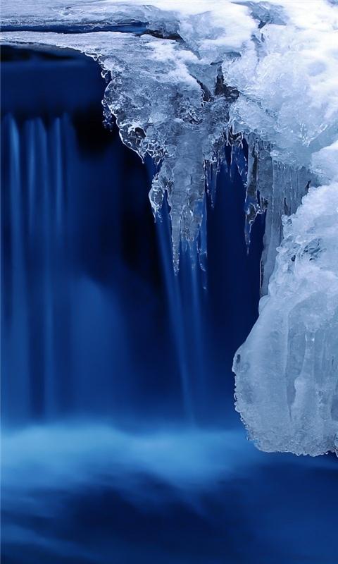 Frozen Cascade Windows Phone Wallpaper