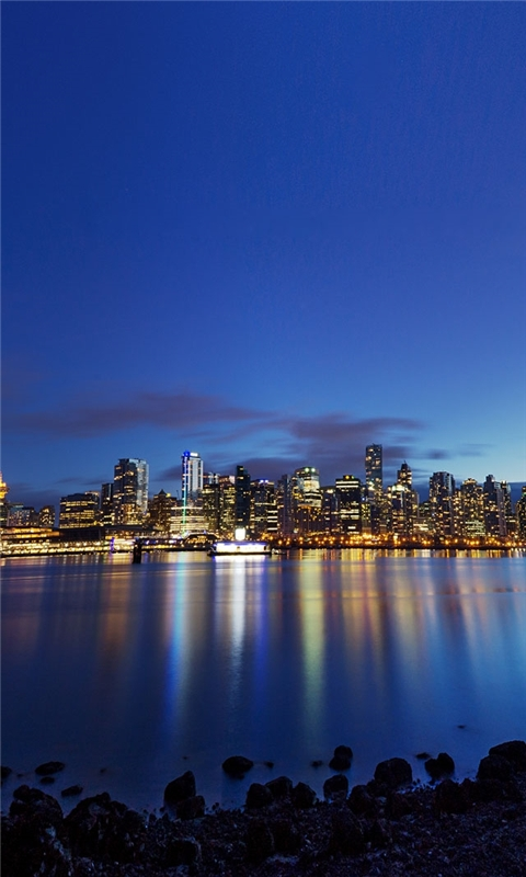 Vancouver at dusk Windows Phone Wallpaper