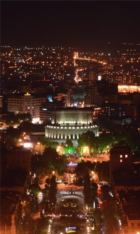 Armenia Yerevan At Night Windows Phone Wallpaper