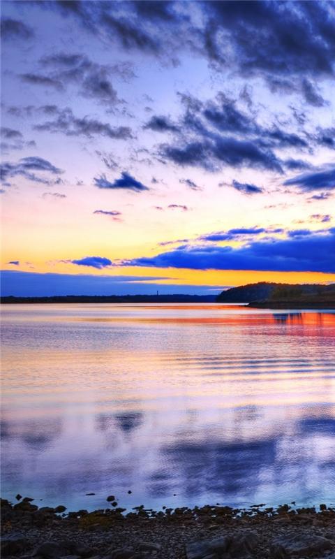 Pastel sunset Windows Phone Wallpaper