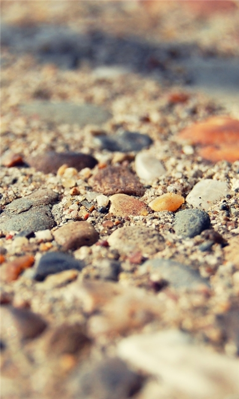 Beach Stones Macro Windows Phone Wallpaper