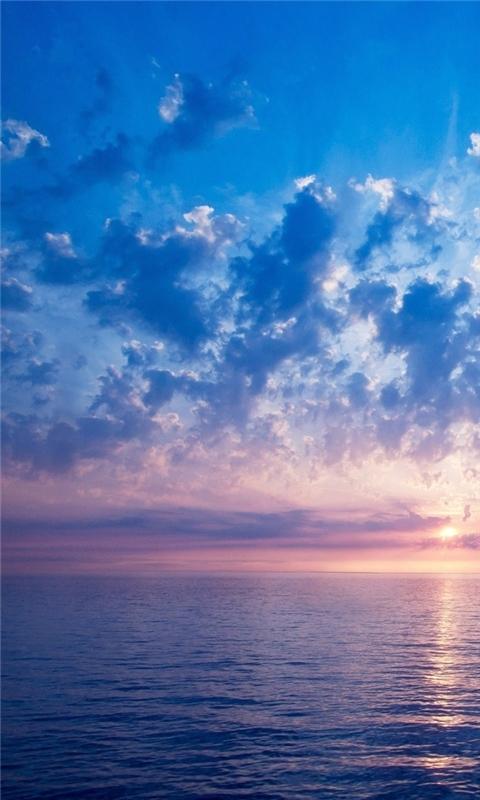 Blue sunrise Windows Phone Wallpaper