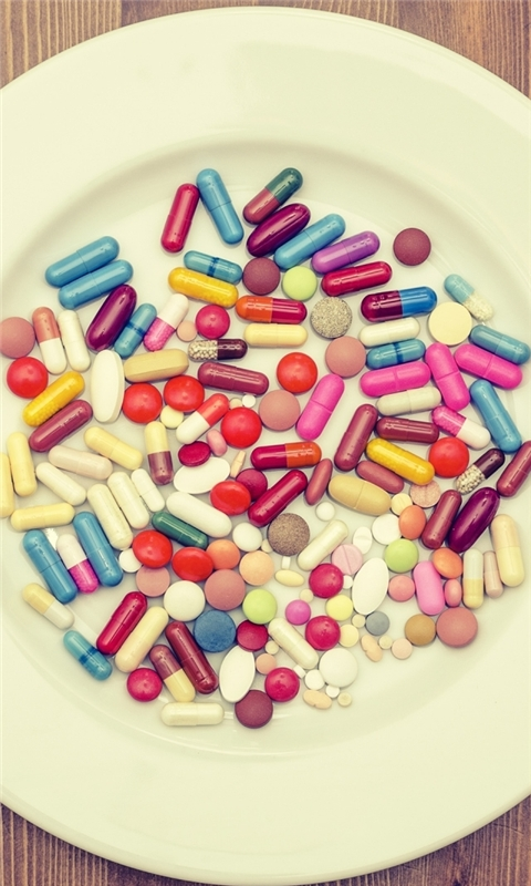 Pills Dinner Windows Phone Wallpaper