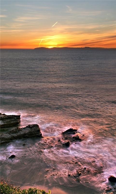 Beautiful ocean sunset Windows Phone Wallpaper