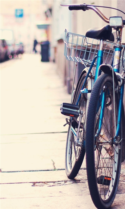 Lonely bicycle Windows Phone Wallpaper