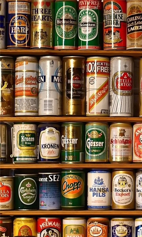 Beer Cans Windows Phone Wallpaper