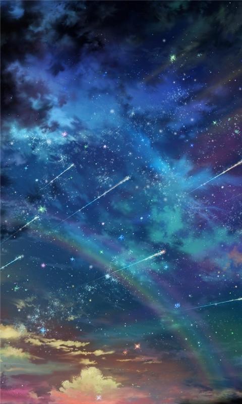 Colorful Space Landscape Windows Phone Wallpaper