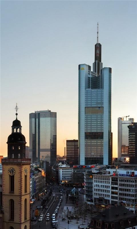 Frankfurt Skyscrapers Windows Phone Wallpaper