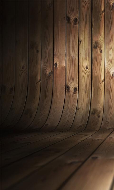 Curved Wood Windows Phone Wallpaper