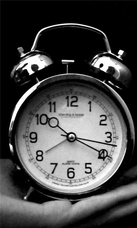 Old Clock Black And White Windows Phone Wallpaper