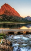 The Glacier National Park At Sunrise