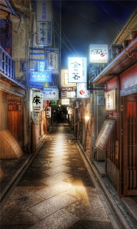 Kyoto Japan Alley Windows Phone Wallpaper