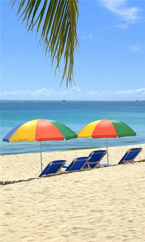 Beach chairs Windows Phone Wallpaper
