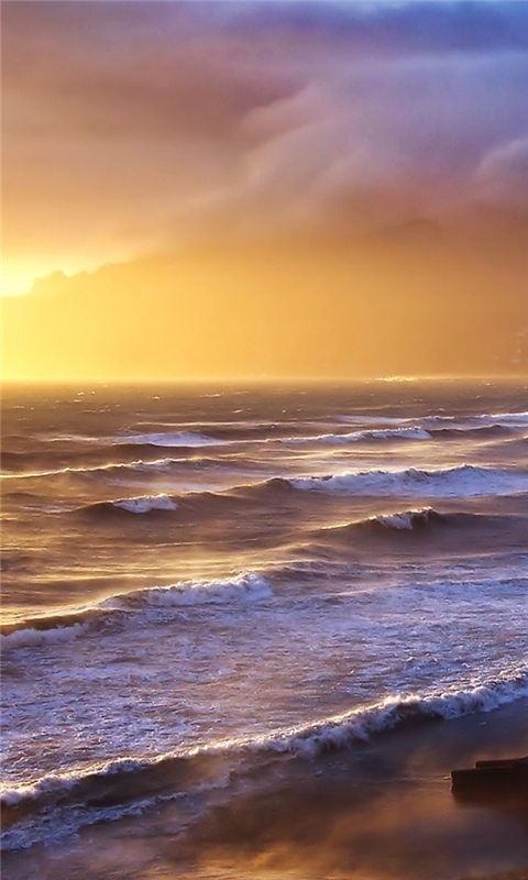 Stormy Sunset Windows Phone Wallpaper