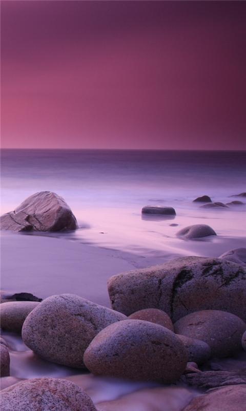 Pink Haze and Stones Windows Phone Wallpaper