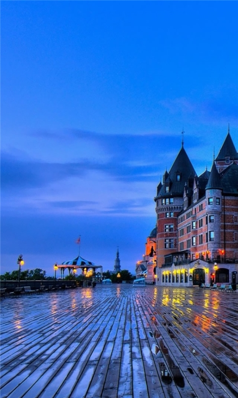 Chateau Frontenac Quebec Windows Phone Wallpaper