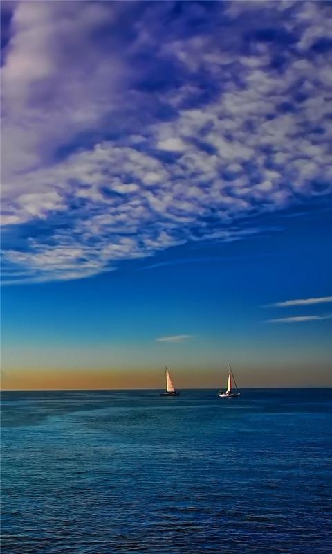 Colorful seascape Windows Phone Wallpaper