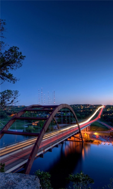 Pennybacker Bridge Austin Windows Phone Wallpaper