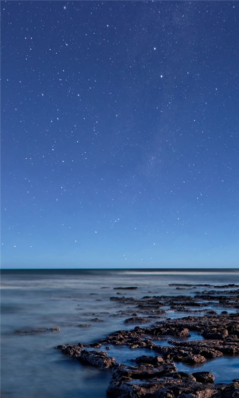Ocean at night Windows Phone Wallpaper