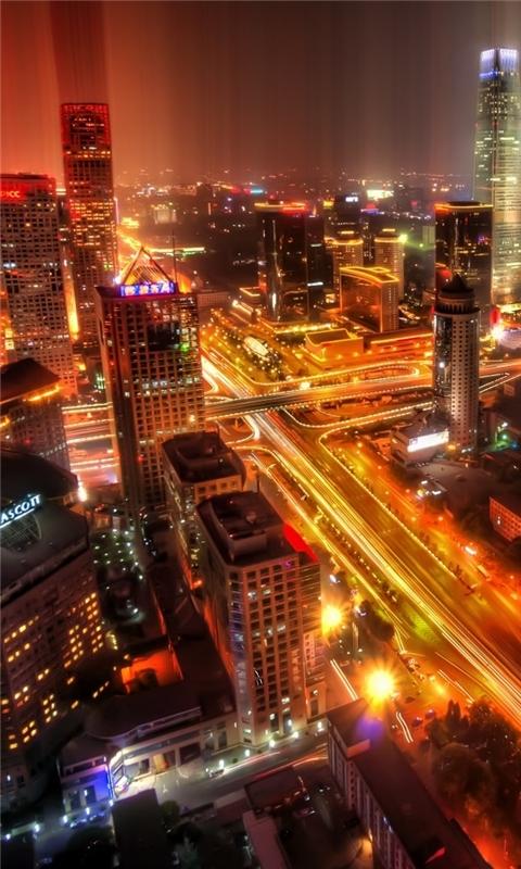 Downtown Beijing After Rain Windows Phone Wallpaper