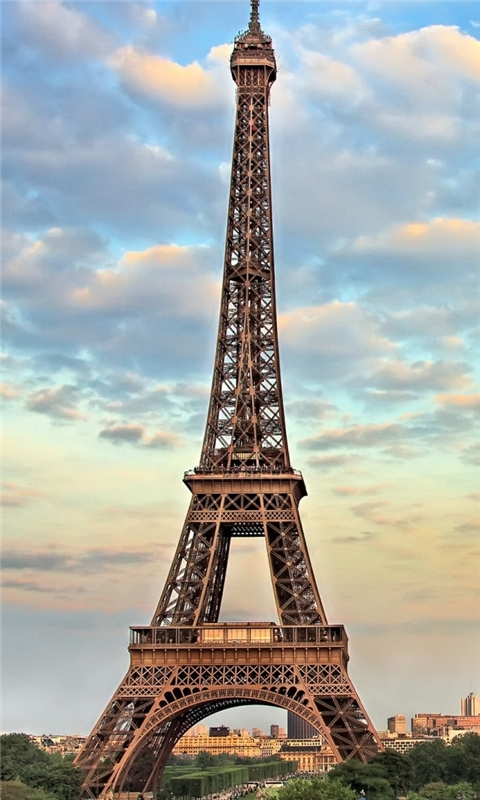 Eiffel Tower Paris France Windows Phone Wallpaper