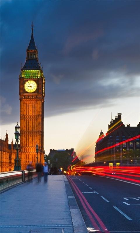 Big Ben Uk London City Street Windows Phone Wallpaper
