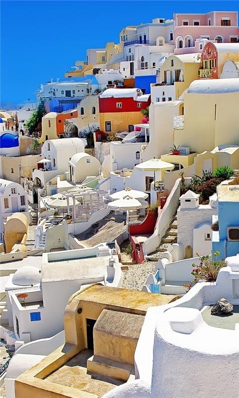 Santorini Oia Greece Windows Phone Wallpaper