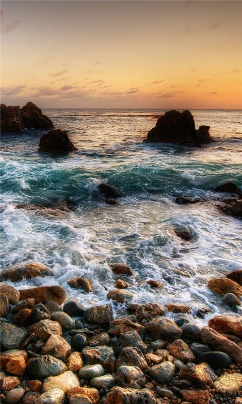Sea shore Windows Phone Wallpaper