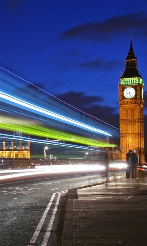 London night lights Windows Phone Wallpaper