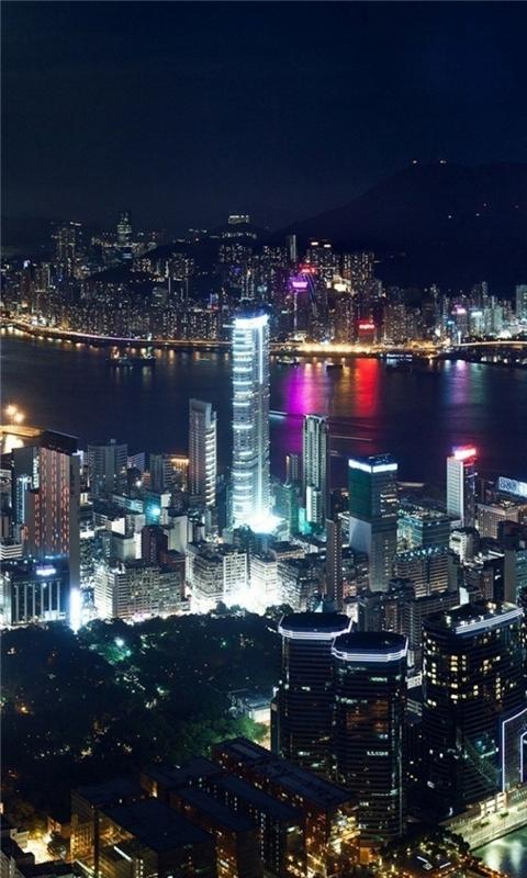 Hong Kong Night Windows Phone Wallpaper
