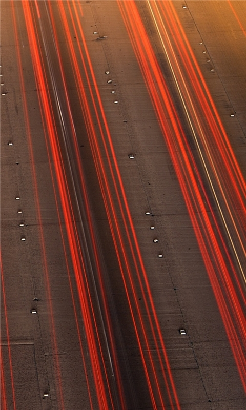 Highway Lights Windows Phone Wallpaper