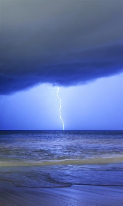 Storm On The Sea Windows Phone Wallpaper