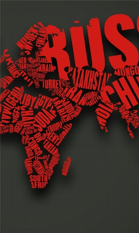 Map Typography Windows Phone Wallpaper