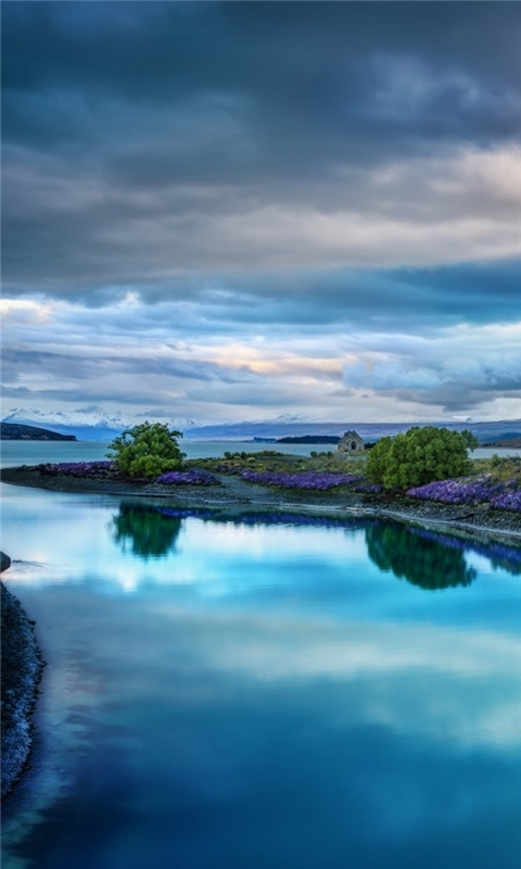 Calm Blue Landscape Windows Phone Wallpaper