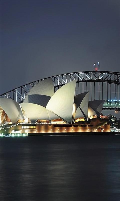 Sydney Photo Over Shadowed Windows Phone Wallpaper