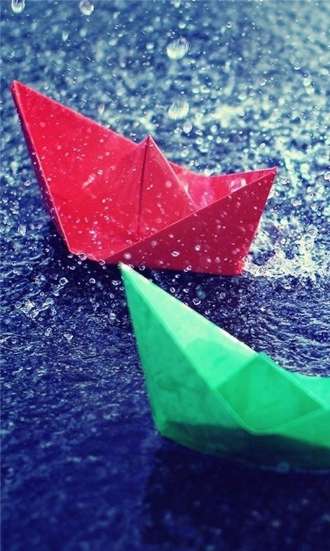 Colourful Origami Windows Phone Wallpaper