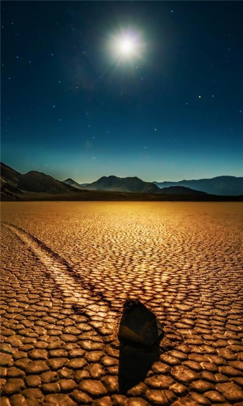 Desert Night Landscape Windows Phone Wallpaper