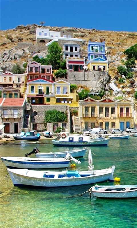 Greece Coast View Windows Phone Wallpaper